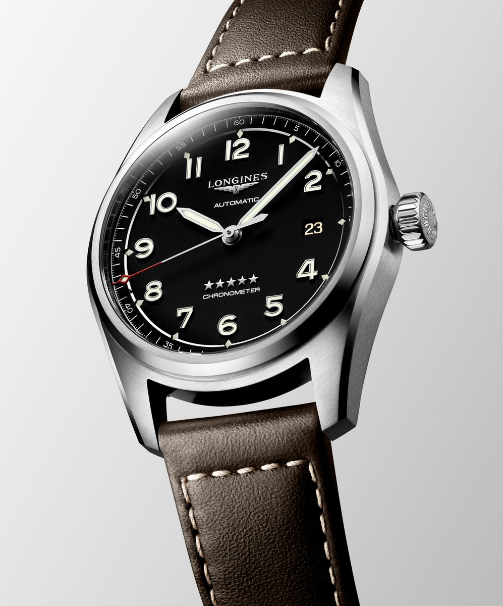 Longines Spirit: inspired by all the pioneers that have placed their trust in our watchmaking expertise. Ref: L3.810.4.53.0  #ThePioneerSpiritLivesOn#LonginesSpirit https://t.co/w2mb5jwHHN
