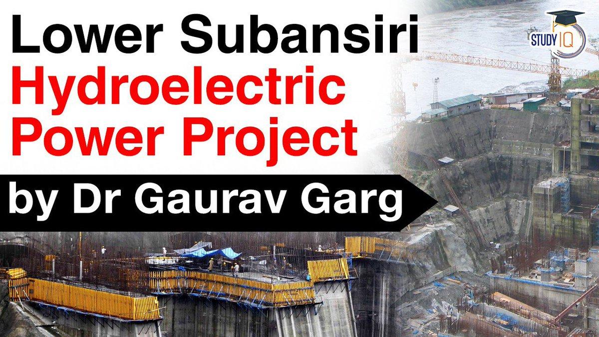 2,000 MW Lower Subansiri hydroelectric power project on Subansiri River in Arunachal Pradesh #UPSC  https://t.co/51nTOP53q5  #ArunachalPradesh #Assam #Northeast https://t.co/hgx9QpkT37