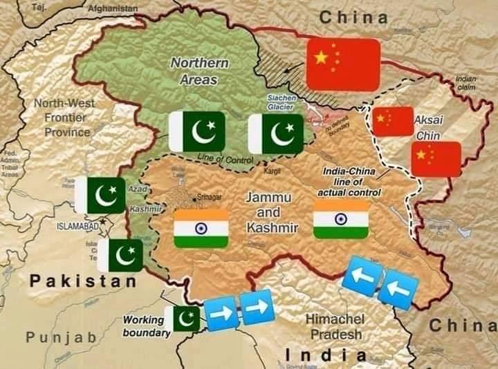 @Ganeshaa242021 @majorgauravarya @ImranKhanPTI @fawadchaudhry @FATFNews @UN Ladakh and Arunachal Pradesh belong to China and Jammu Kashmir belong to Pakistan https://t.co/2vEZiVsaRq
