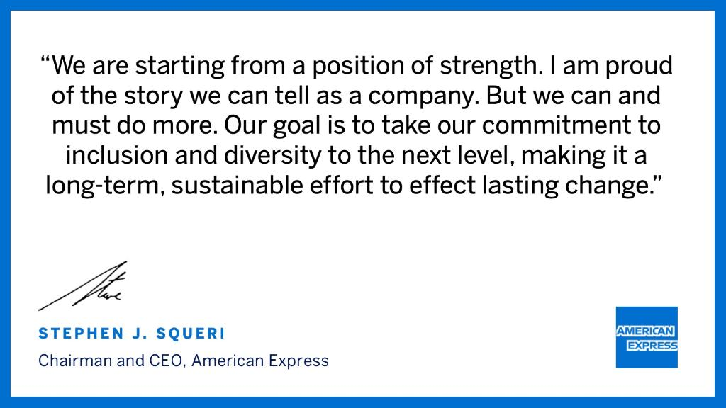 We're committing $1B to advance our diversity, inclusion & equity priorities, including 100% pay equity & balanced representation, increased spend w/ diverse suppliers, expanded access to capital for minority-owned businesses, & more. Details here: