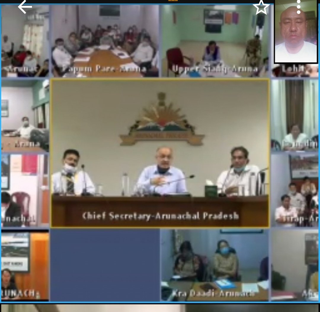 Virtual meeting with Chief Secretary, HODs and DCs of Arunachal Pradesh. https://t.co/OOam6yOzxe