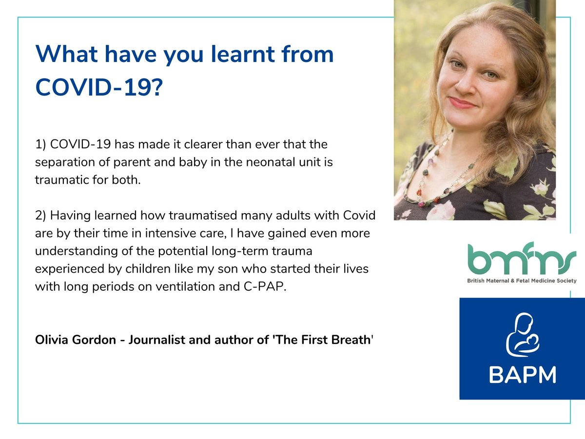 At the BAPM and @BMFMSNews  virtual conference Perinatalupdate we'll be hearing a patient perspective from @OliviaGordon.  To see Olivia and lots of other great speakers book here:  https://t.co/JP11QSbCcf https://t.co/uYROsVnwPE