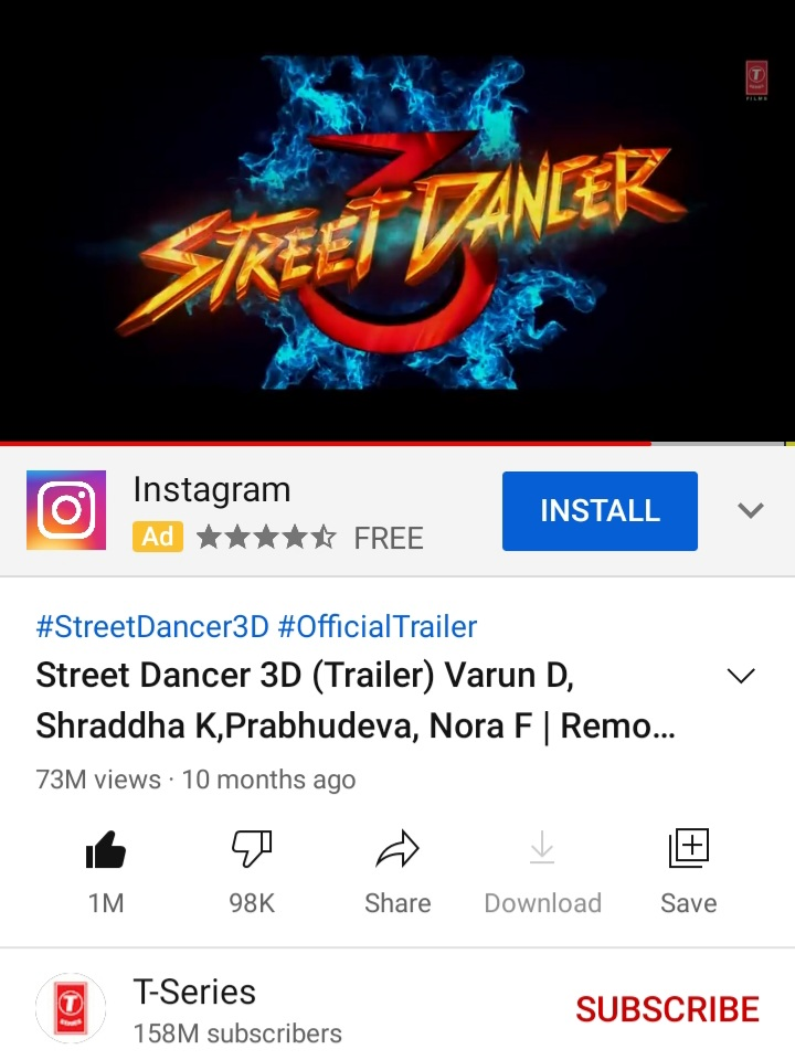 And At Lastttt..  #StreetDancer3D trailer reached 1 Million likes.. A great achievement for Varuniacs🔥!!  ENJOYYY🔥🔥 https://t.co/6cH6Q52H1l