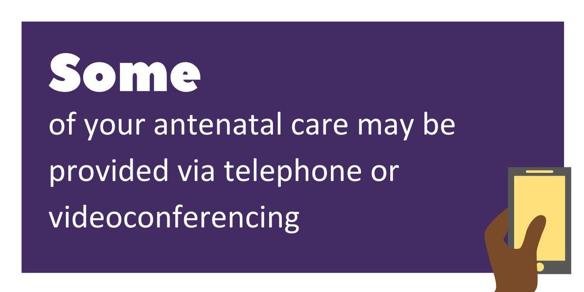To reduce the number of times you need to travel and attend hospitals/clinics and minimise your risk of catch coronavirus, some of your antenatal care may be provided via telephone or videoconferencing. Find out more: https://t.co/h7q5bdW1Xr https://t.co/fDySdcHe9m