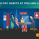 Image for the Tweet beginning: Election officials: Help maintain healthy