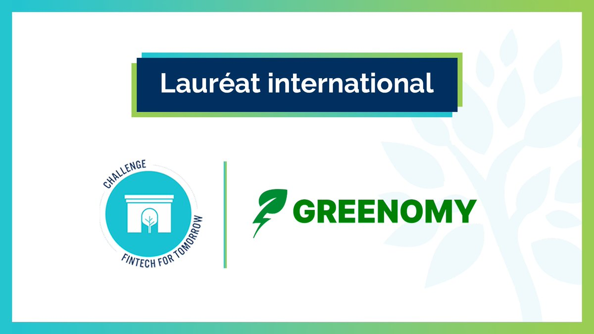 """Finance for Tomorrow on Twitter: """"Challenge #FintechForTomorrow ⭐️ Dernière récompense : Félicitations à Greenomy, lauréat international 🌍 ! 👏 Solution #Regtech du Luxembourg 🇱🇺, la #fintech vise à aider les acteurs à"""