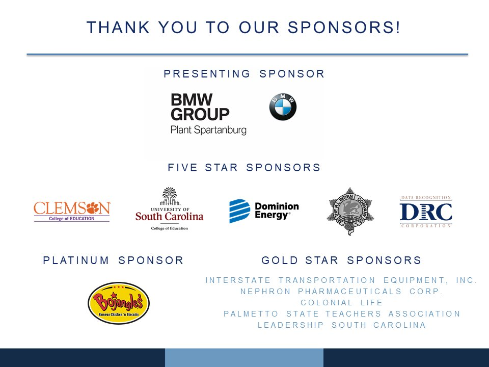Thank you to all of our sponsors who make this event possible! #SCTOY