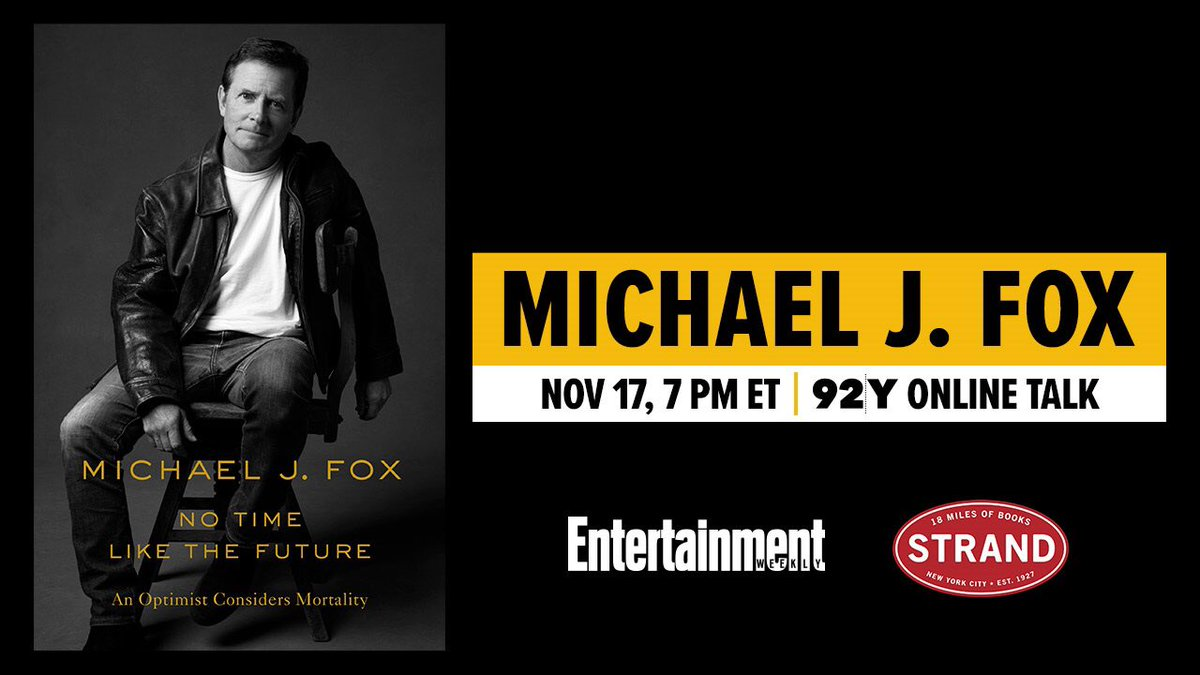 On Nov. 17th, Ill be in conversation with @EWs @JDHeyman to discuss my new book No Time Like the Future. Thanks to @92ndstreety, Entertainment Weekly, and @strandbookstore for hosting! Click the link to buy tickets. 92y.org/event/michael-… #notimelikethefuture