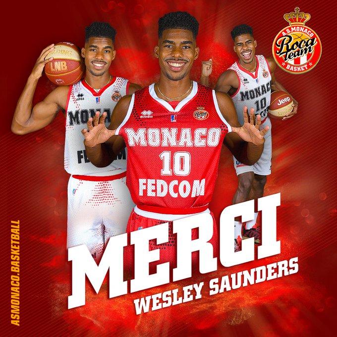 Ufficiale: Wesley Saunders lascia AS Monaco Basket