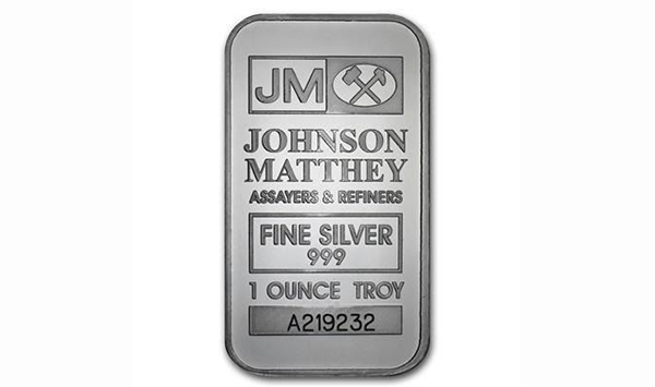 Scarce - .999 Fine Silver Johnson Matthey 1oz Bar. Very Collectible, Serialized (Serial Number May https://t.co/9sLtDqKHmx Online Auction Thursday October 29th, 2020 At 7:00 PM EST.  #Coins #Collectibles #Jewellery #Bullion #Banknotes #Art & More! #EstateAuction #CoinAuction https://t.co/ETl12twzMr
