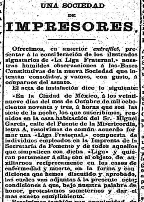 """Un día como hoy en la vida de la imprenta... Un 29 de octubre de 1893 se estableció una """"Liga Fraternal"""" de impresores para auxiliarse recíprocamente (así lo informó """"El Siglo Diez y Nueve"""" el 20 de diciembre de 1893). Consulta la nota completa. 📰👇 https://t.co/AGDmxb7mfl https://t.co/0SRIq2siuI"""