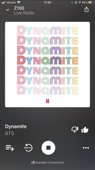 RT @CYPHERS_DDAENG3: Thank you so much @OnAirWithRyan for playing #BTS_Dynamite on @Z100NewYork 🙏🏼💜😘 https://t.co/cxqJbboNUi