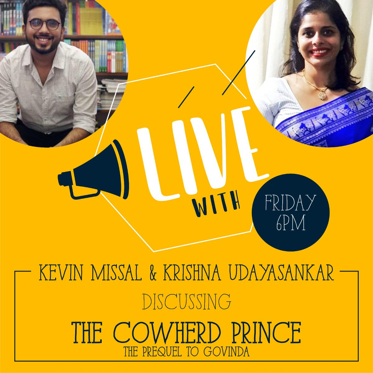 Tomorrow, live on @instagram with @kevin_missal   #TheCowherdPrince @PenguinIndia