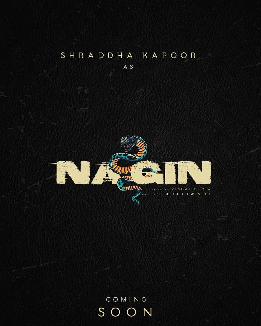 @ShraddhaKapoor is all set to be the next Nagin of Bollywood😎 The movie will be directed by @FuriaVishal and produced by @Nikhil_Dwivedi  #ShraddhaAsNagin #ShraddhaKapoor #NikhilDwivedi #VishalFuria #Hereforshraddha  P.s. - this fanmade poster is just amazing😍😍😍
