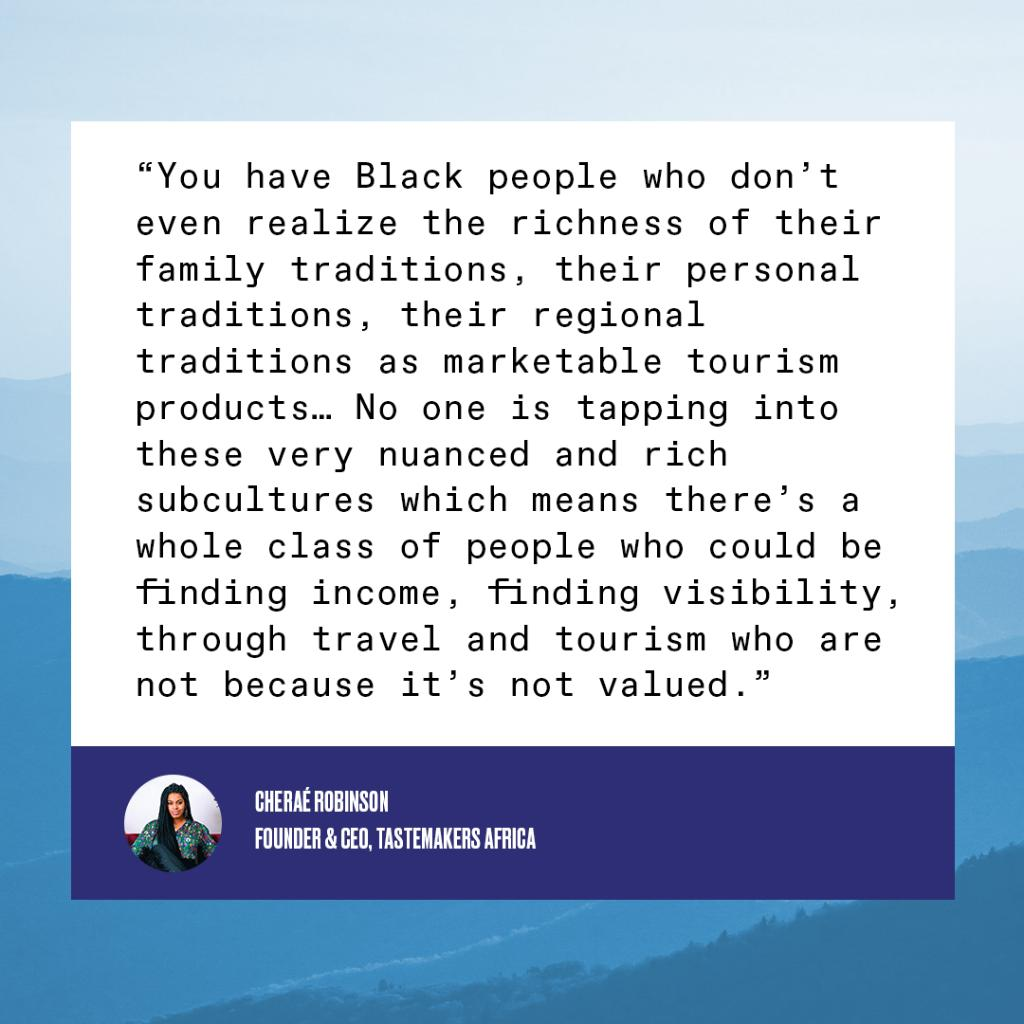 """The sheer level of diversity and experiences that adds to the fabric of destinations in the U.S. alone, it's just a missed opportunity."" - Cheraé Robinson, @TstmkrsAfrica #BrandUSAGlobalMarketplace https://t.co/yNDOt6kPrs"