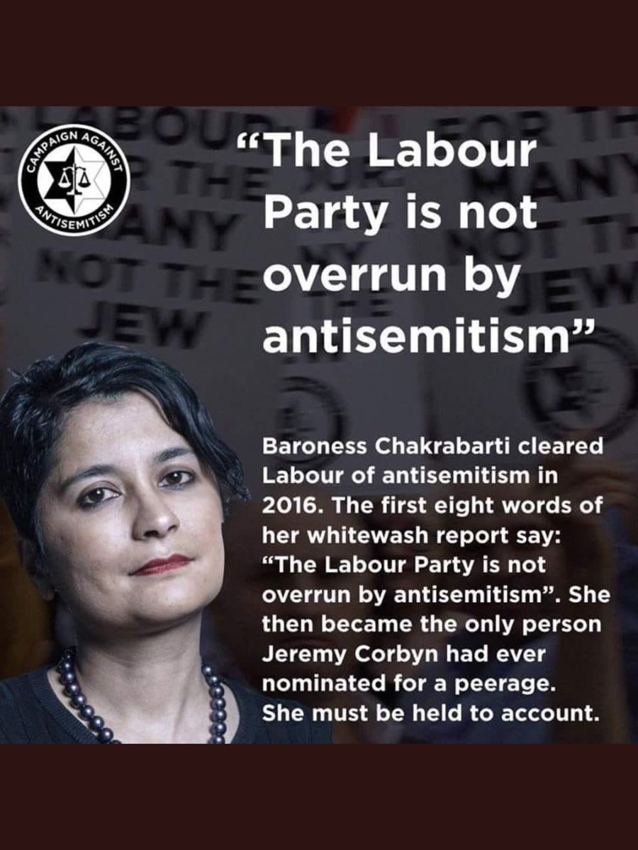 #UKLabour #EHRCReport   QUESTION:  Should this woman be stripped of her #LifePeerage ???  .  #BaronessChakrabarti  🤬🤬🤬 https://t.co/9WbfVhZGn2