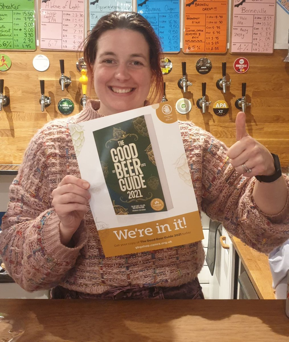 WANT GOOD BEER? ALLOW US TO GUIDE YOU...  We're very proud to announce that we're a part of the 2021 CAMRA Good Beer Guide.  Thank you to everyone who voted for us. Next year: Pub of the year ;-)   #gbg2021 #camra #goodbeerguide #cask #ale #realale #cheers #beer #craftbeer https://t.co/DXiDYYCXjJ