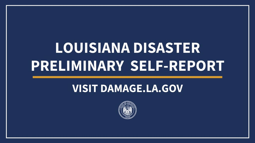 If you received damage to home or business due to #Zeta, please self-report your damages to damage.la.gov. This information can help authorities understand where and how locations were impacted as local, state and federal officials continue to assess damages. #lagov