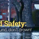 Image for the Tweet beginning: Never drive through flooded areas.