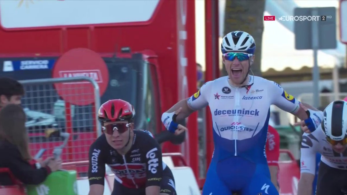 #Cycling #LaVuelta20 Stage 9 Winner @Sammmy_Be #IRL of @deceuninck_qst https://t.co/SkWes1ZcBs