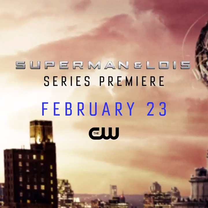 Ready to soar. #SupermanAndLois premieres Tuesday, February 23 on The CW! https://t.co/0fLrEboMri