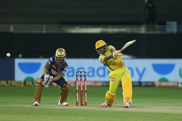 4⃣!4⃣!4⃣!  Morgan throws the ball to Rana and Rayudu collects three back to back boundaries.   16 off the over.    CSK 74/1 after 10 overs  #CSKvKKR  #IPL2020  LIVE https://t.co/XbBA4JnvQo https://t.co/ryN5fBAhVQ