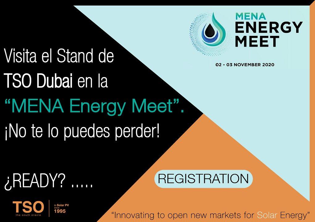 📢➡️Os invitamos a visitar nuestro Stand Virtual durante 48hrs en el @MENAEnergyMee de #oman los próximos días 2 y 3 de noviembre. Podéis registraros en el siguiente enlace para asistir a toda la Expo Virtual 👇👇👇  https://t.co/MJrP25aEa0 #solarenergy #tsodubai #tier1 https://t.co/HBlNH9lDZq