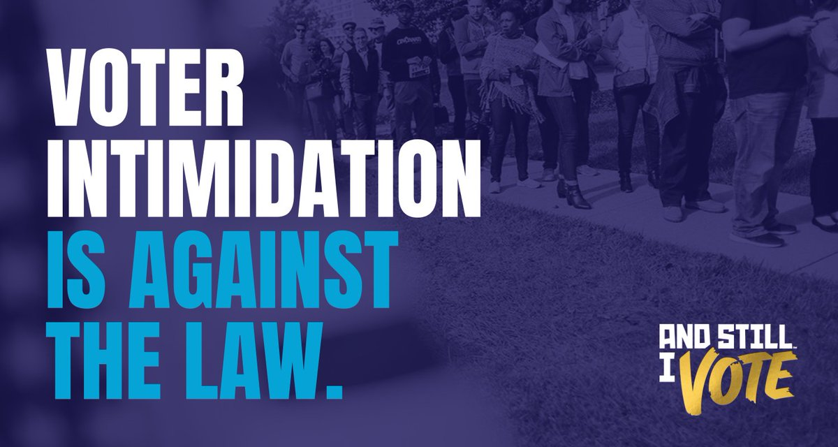Voter intimidation is against the law. Voter intimidation is against the law. Voter intimidation is against the law. Voter intimidation is against the law. Voter intimidation is against the law.