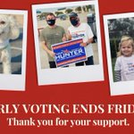 Image for the Tweet beginning: Early voting ends Friday. Please