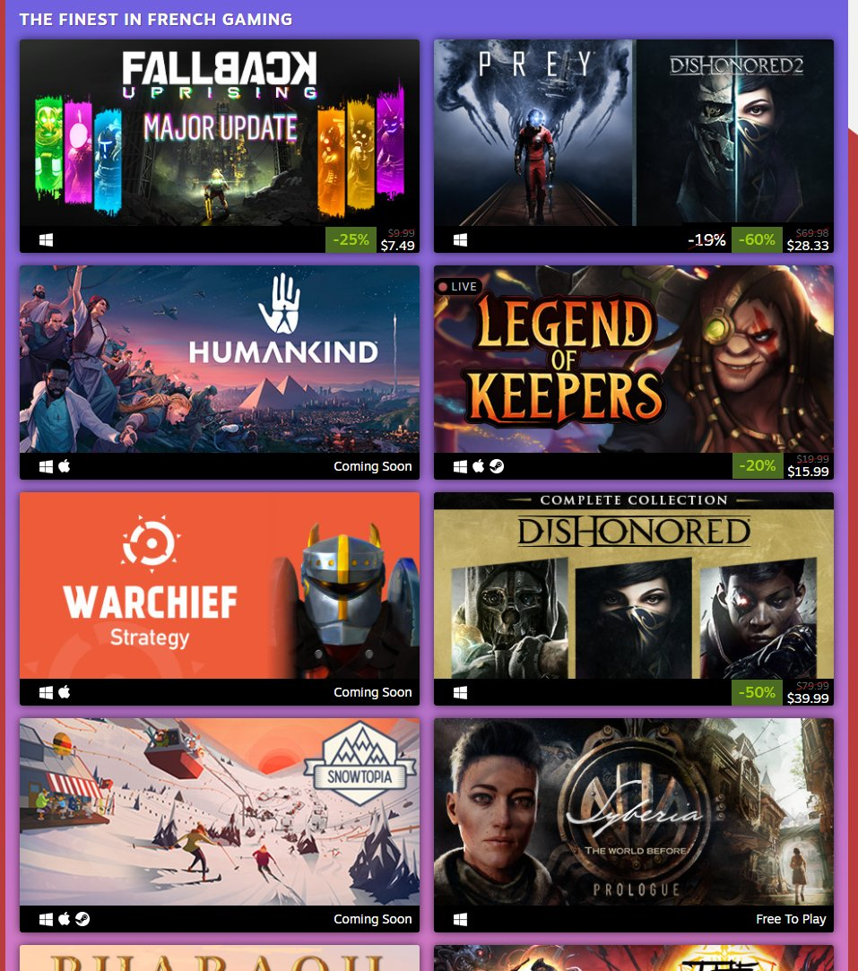 Games made in France sale on Steam 2