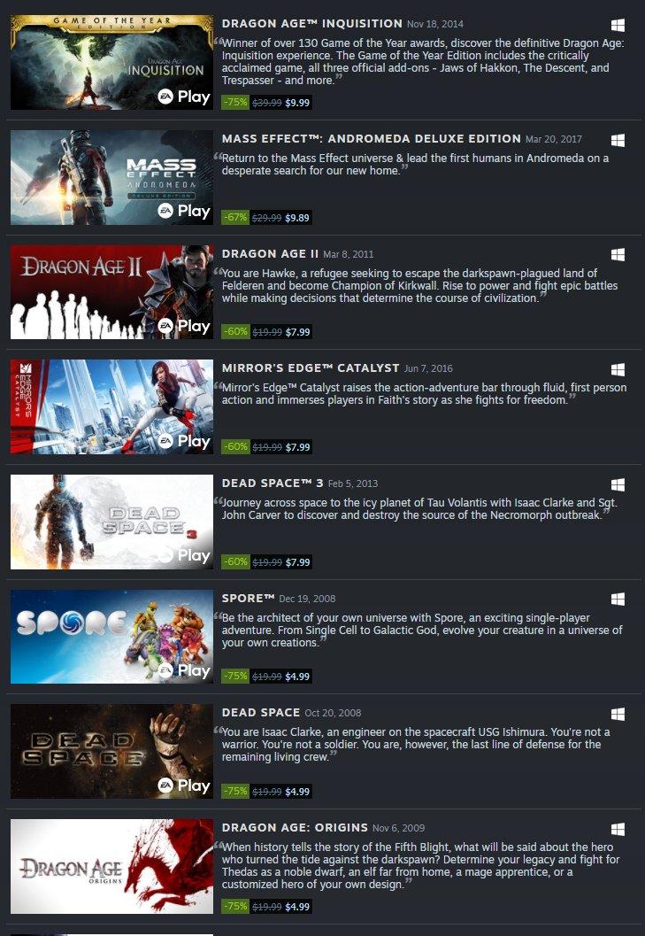 EA sale on Steam 2