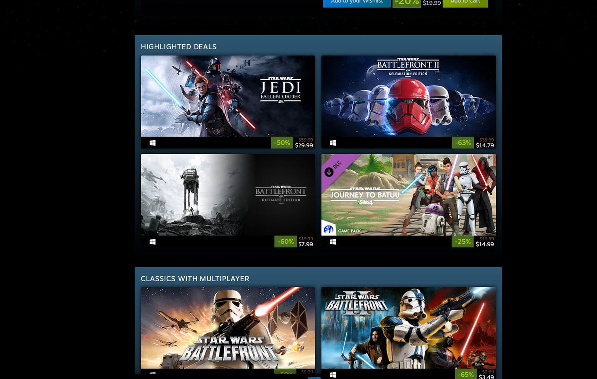 (PCDD) Star Wars Sale via Steam. This is the way. 2