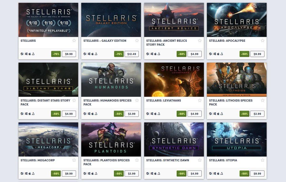 (PCDD) Stellaris Franchise Sale via Humble Bundle. 2