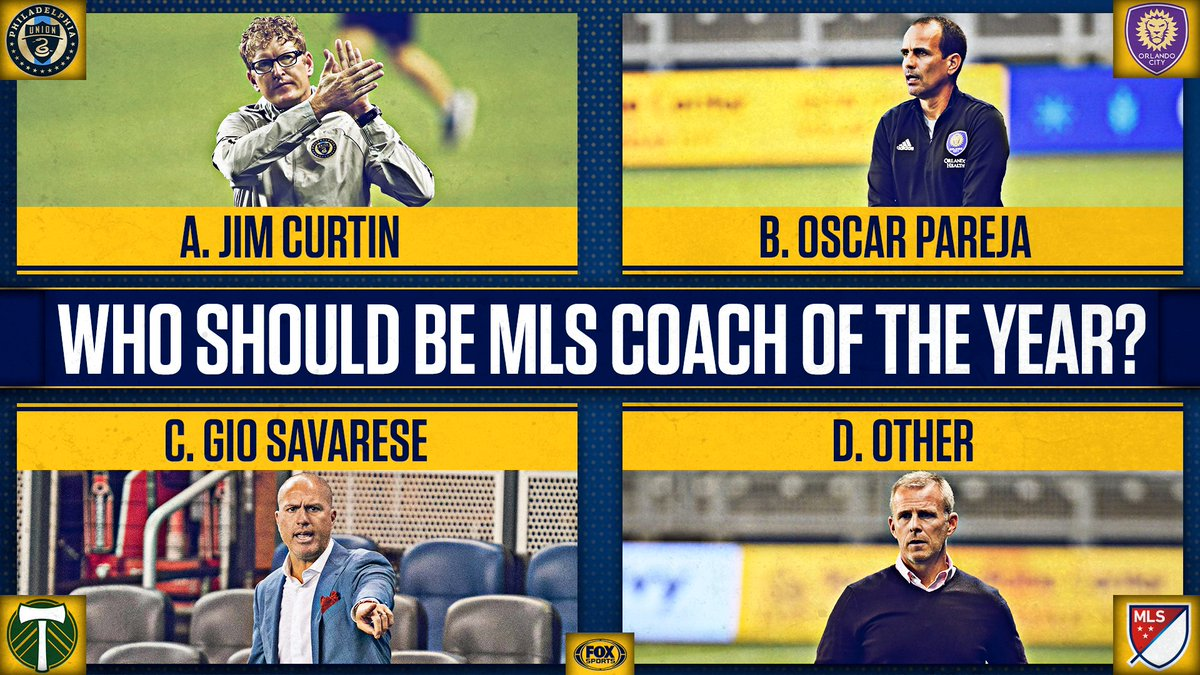 Who should take home the @MLS Coach of the Year award in 2020? 🤔 https://t.co/vysJvR2i96