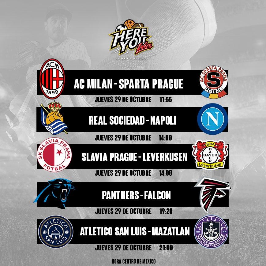 Así la agenda deportiva de hoy con lo principal 📺  Europa League, una nueva semana de NFL y jornada de Liga MX. https://t.co/j0O3DqSqYn