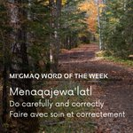 Image for the Tweet beginning: Mi'gmaq word of the week: