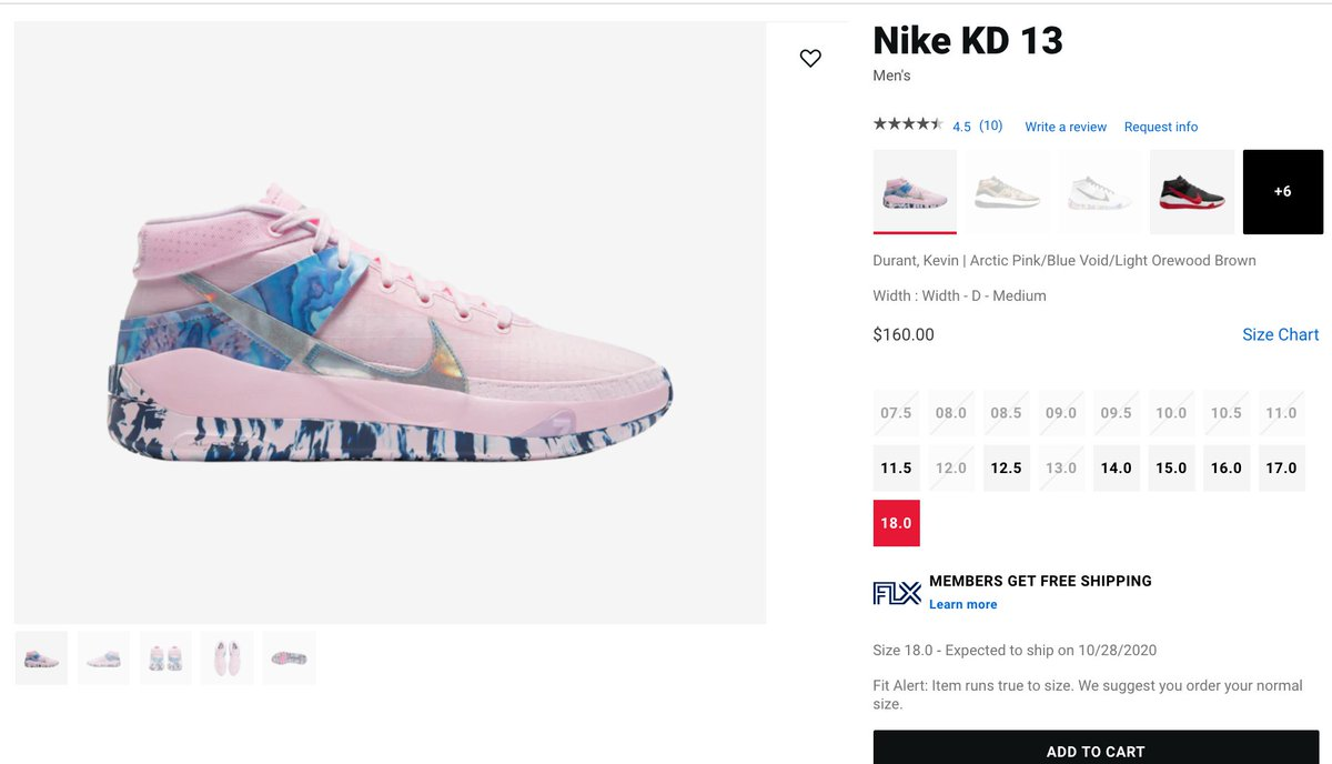 Ad: Big sizes restocked Nike KD 13 'Aunt Pearl' =  2