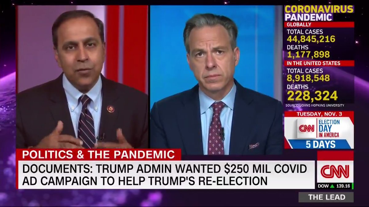 Democratic Rep. Raja Krishnamoorthi says documents reveal that the Trump administration attempted to use $250 million of taxpayer money, meant for Covid-19 education purposes, as a slush fund to help President Trumps reelection campaign by trying to rebrand the pandemic.