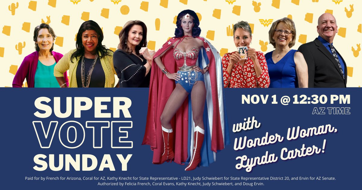 On the final Sunday before Election Day 2020, I'm joining forces with the AZ Wonder Women for one last phone bank to #FlipAZBlue! Join us and make a difference: mobilize.us/arizonald21/ev…