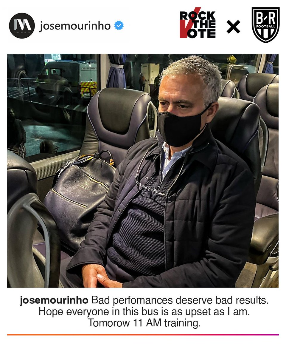 Jose Mourinho on Instagram after Tottenham's loss 😂 @brfootball https://t.co/PbK4L9HU5s