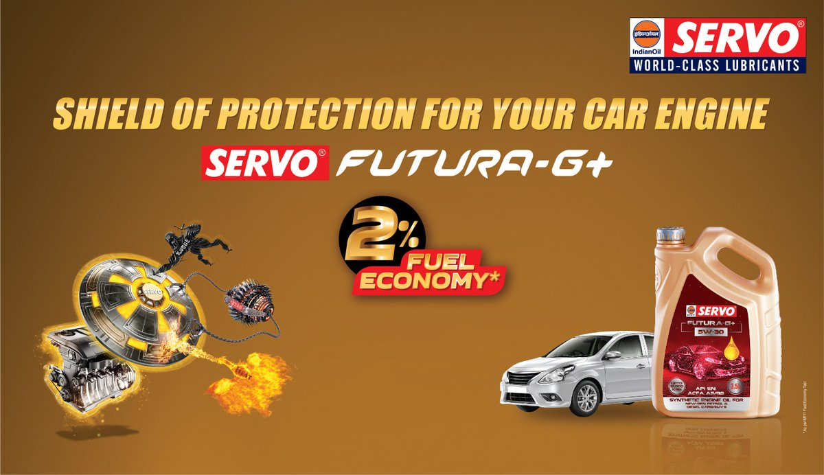 𝑺𝑬𝑹𝑽𝑶 Futura-G+ synthetic engine oil for petrol/diesel cars and SUVs. The shield of protection for your car engine from wear and tear. #𝑺𝑬𝑹𝑽𝑶 #engineoil  Visit https://t.co/bXJXPNkfOQ to know more. https://t.co/G5BcoMBeSr