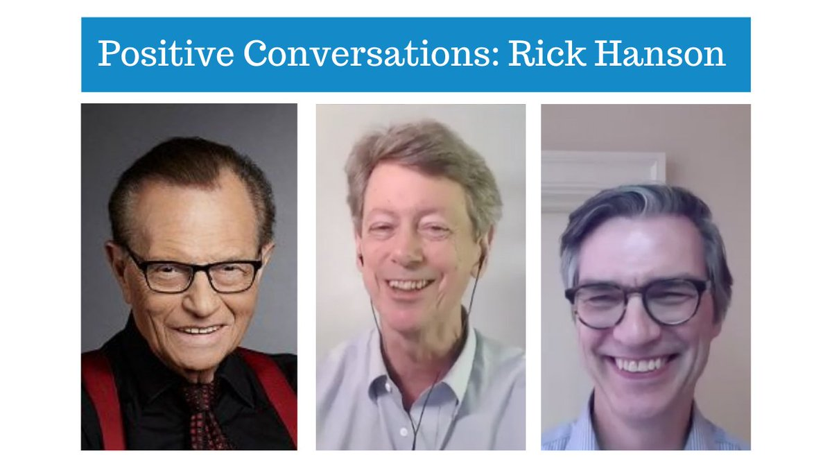 Check out my interview with neuroscience & happiness expert @drrhanson Rick Hanson! Calm the brain & experience more happiness. #neuroscience  #PositiveConversations