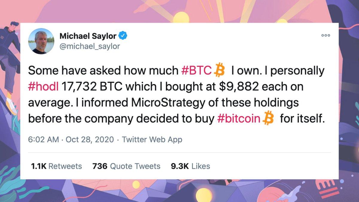 Saylor nói về BTC trên twitter