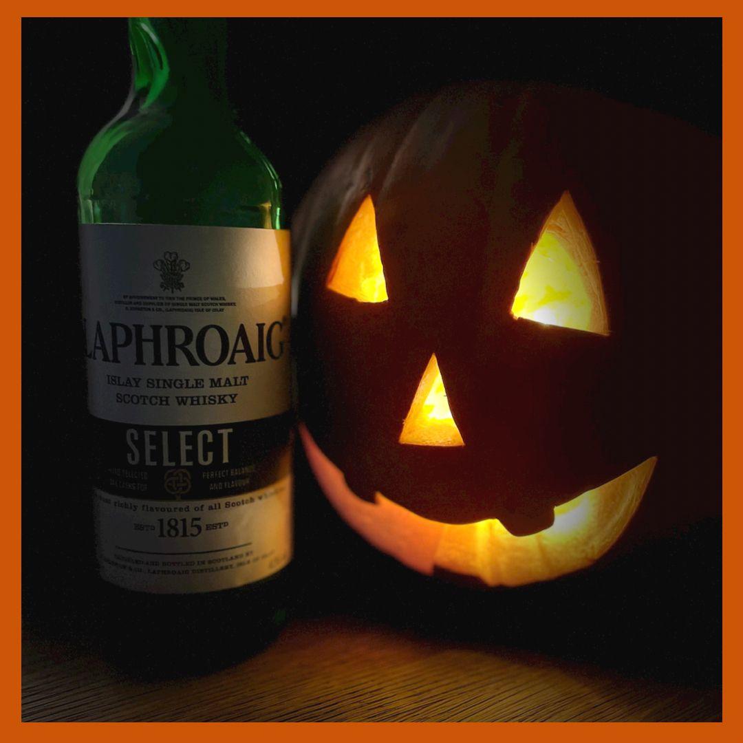 Laphroaig... scary for some!    Do you enjoy a very peaty whisky?   #halloween #laphroaig #laohroaigselect #Whisky #Scotch #SingleMalt #islaywhisky #islaysinglemalt #islayscotch https://t.co/XN1yjGQzmL