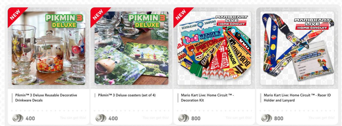 New physical rewards on MyNintendo US 2  Pikmin 3 Deluxe and Mario Kart Live Home Circuit