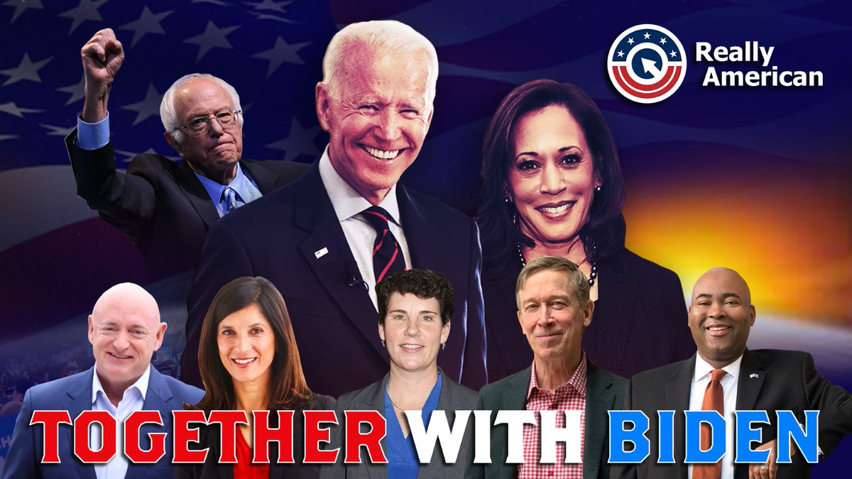 Image for the Tweet beginning: #TogetherWithBiden, we will end this