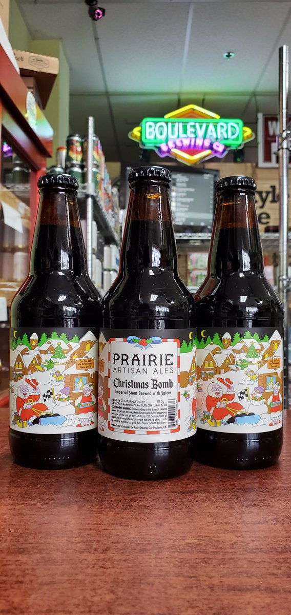 NEW @prairieales Christmas Bomb Imperial Stout w/ Spices 13%  #mckinneytx #craftbeer #shoplocal #drinklocal #allentx #friscotx #texas #texascraftbeer #melissatx #txbeer https://t.co/EYx3KuLs7i