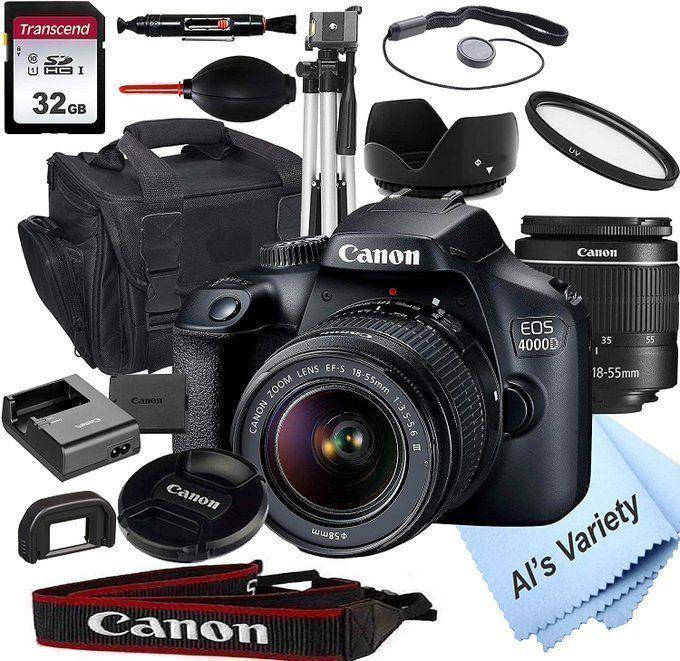STEAL!!  Canon 4000D DSLR Bundle for $379!  2