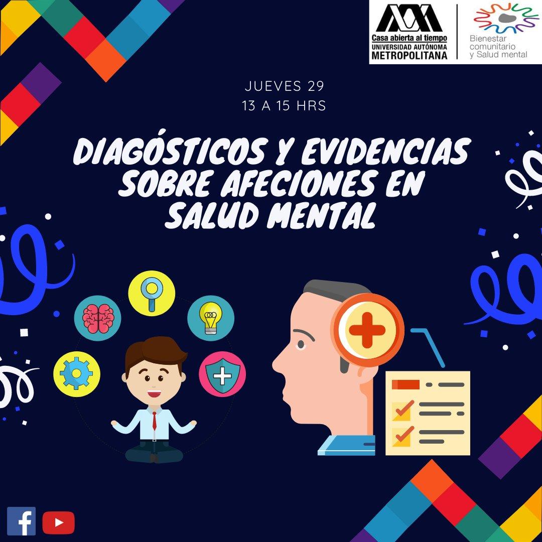 ¡Hoy contamos con tu asistencia virtual durante el Conversatorio: Diagnósticos y Evidencias sobre Afectaciones en Salud mental! Liga de acceso: https://t.co/ThjW2zK2Y1.   https://t.co/CGI94kCdWE. #ComunidadUAM #COVID19 #BienComunUAM #SaludMental #UAMContigo #Semana9 https://t.co/UofKH3iHu8