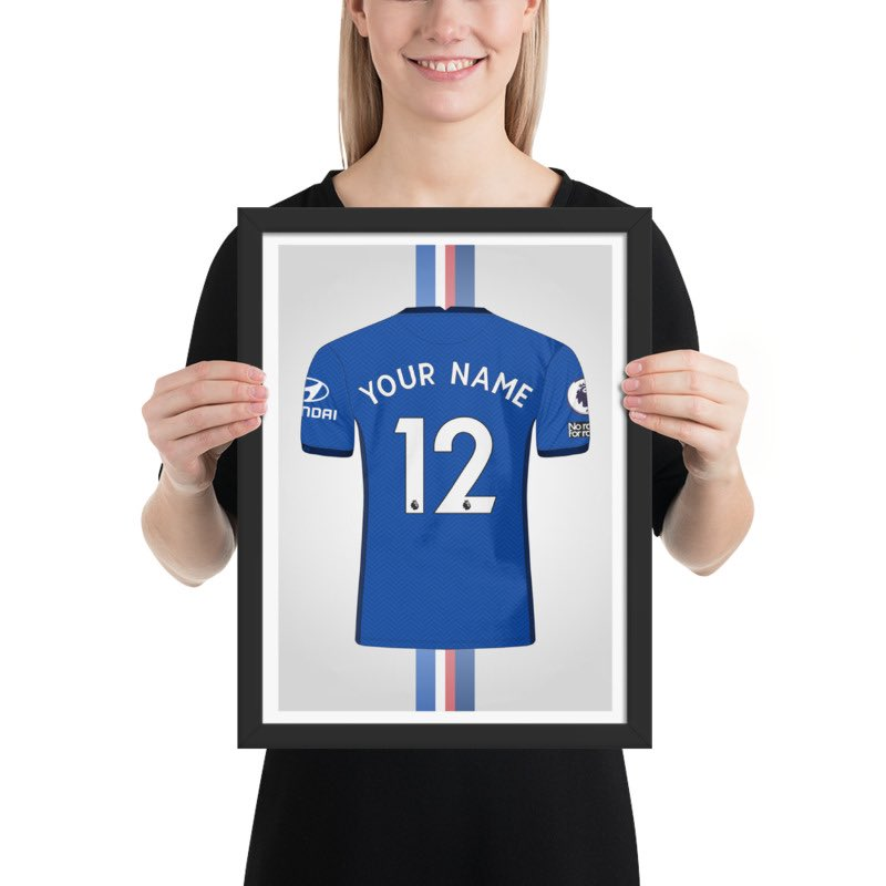 🔹🔷 BLUE IS THE COLOUR 🔷🔹 Introducing our #ChelseaFC Home Shirt artwork - perfect for gifting to those Chelsea-mad friends/family in your life - or a wee treat for yourself. Available from £8.95* *Our introductory prices expire at Midnight on Saturday* #YourNameYourNumber 👕 https://t.co/vRXmZkDZ1g